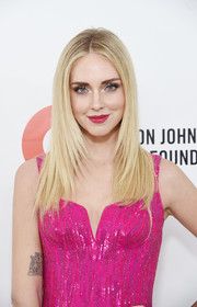 Chiara Ferragni's lion tattoo was on full display when she attended the 2020 Elton John AIDS Foundation Oscar-viewing party.