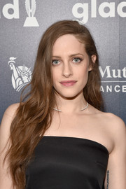 Carly Chaikin wore her long hair down with delicate waves at the GLAAD Media Awards.