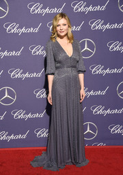 Kirsten Dunst was pure elegance in a beaded gray gown by Ralph & Russo at the Palm Springs International Film Festival.