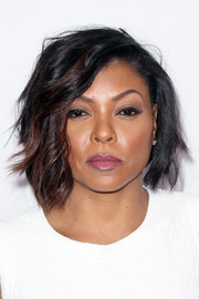 Taraji P. Henson Showed Off A Stylish Wavy Bob At The Producers Guild  Awards. Short Wavy Cut