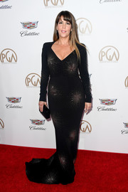 Patty Jenkins was all about classic glamour in a fireworks-beaded gown by Stella McCartney at the 2018 Producers Guild Awards.