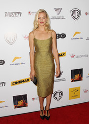 Yvonne Strahovski's chartreuse L'Wren Scott cocktail dress at the Australians in Film Awards Gala had a glamorous Old Hollywood feel.