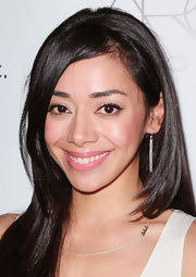 Aimee Garcia wore sheer and shiny lipstick in a delicious shade of bubblegum pink at the 2nd Annual Autumn Party.
