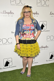 This dress was graffiti meets princess in a nutshell. Kristen Vangsness was certainly out for a show in this look.