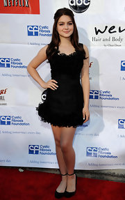 Ariel Winter was a total doll at the Wisteria Lane Block Party in this richly ruffled LBD.