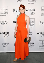The clean lines of Ana's amfAR Gala dress perfectly showcased its striking stand-out hue.