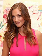 Minka Kelly left her hair long and softly mussed for the release of City of Style.