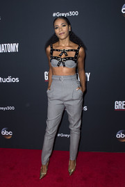 Kelly McCreary matched her top with a pair of high-waisted pants.
