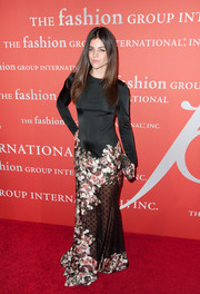 Julia Restoin-Roitfeld was modest up top and sexy down below in this Givenchy evening dress during the Annual Night of Stars.