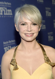 Michelle Williams wore her short blonde hair slightly tousled during the Santa Barbara International Film Festival.