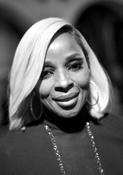 Mary J. Blige wore her hair in a platinum-blonde bob at the Santa Barbara International Film Festival.