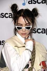 Billie Eilish looked cute with her hair knots at the 2019 ASCAP Pop Music Awards.