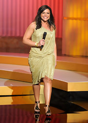 Rachael Ray was goddess-like in bronze embellished heels.