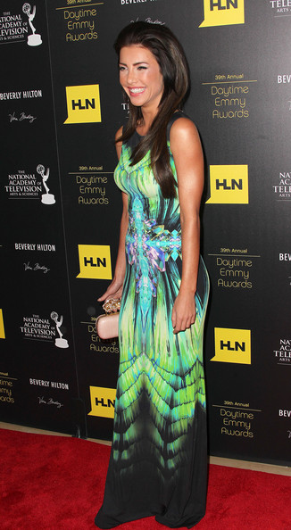 Jacqueline MacInnes Wood's tie-dye placement-print dress