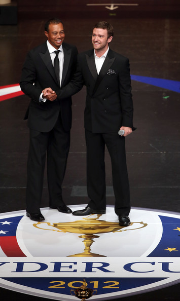 Tiger Woods looked dapper and cool in this peak-lapel suit while attending the Ryder Cup Gala.
