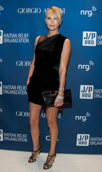 More Pics of Charlize Theron Side Parted Straight Cut (1 of 7) - Charlize Theron Lookbook - StyleBistro