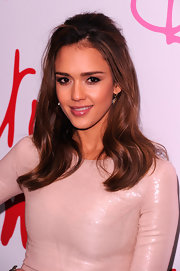 Jessica Alba attended the 3rd Annual Diane Von Furstenberg Awards wearing a pair of small teardrop earrings with moonstone.