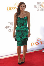 Briana Evigan showed us how to work green leopard print!