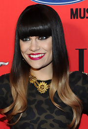Jessie J. hit the red carpet at the 3rd annual 'Elle' Women in Music event wearing her sleek ombre tresses with long blunt bangs.