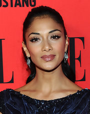 Nicole Scherzinger swept on a pearly warm rose shade of lipstick for the 3rd annual 'Elle' Women in Music event.
