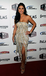 Arianny was stunning at the Mixed Martial Arts Awards in a beaded cocktail dress. She was dripping with glitz and glamour.