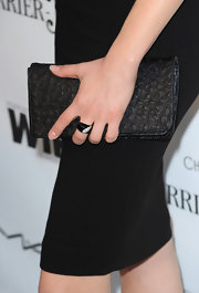 Although she was wearing black Rachelle's clutch still stood out because of the added texture.