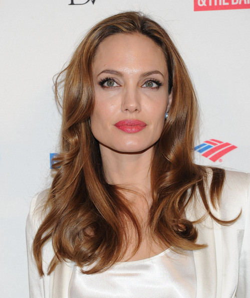 More Pics of Angelina Jolie Long Wavy Cut (4 of 21) - Angelina Jolie Lookbook - StyleBistro
