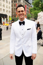 Cheyenne Jackson was a standout in his dapper white tux.
