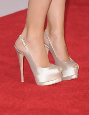 Hayden chose a sky-high pair of slingback peep-toe heels to complement her sequined dress at the 2012 AMAs.