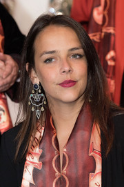 Pauline Ducruet kept it simple with this straight 'do with an off-center part at the 40th International Circus Festival.