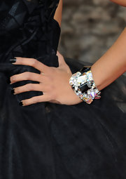 Katerina Graham flashed a decadent crystal and onyx bracelet while attending the NAACP Awards.