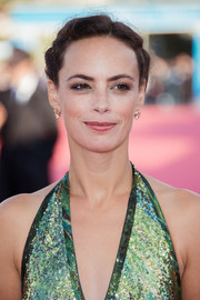 Berenice Bejo styled her hair into a braided updo for the Deauville American Film Festival opening ceremony.