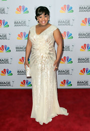 Chandra Wilson looked elegant in this bead saturated ivory gown at the NAACP Image Awards.