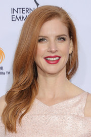 Sarah Rafferty looked sweet with her side-swept waves at the International Emmy Awards.