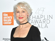 Helen Mirren sported a messy short 'do at the 2018 Chaplin Award Gala.