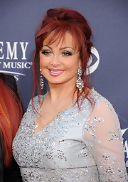 Naomi Judd wore dangling diamond earrings to the Academy of Country Music Awards.