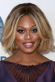 Laverne Cox pulled her hair up into a faux bob for the NAACP Image Awards.