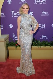 Laura Bell Bundy brought some major glitz to the Academy of Country Music Awards in this asymmetrical beaded gown.