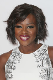 Viola Davis was stylishly coiffed with this short wavy 'do at the 2016 NAACP Image Awards.