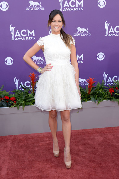 More Pics of Kacey Musgraves Dangling Diamond Earrings (2 of 6) - Dangle Earrings Lookbook - StyleBistro [clothing,dress,red carpet,white,carpet,flooring,shoulder,cocktail dress,fashion,fashion model,arrivals,kacey musgraves,nevada,las vegas,mgm grand garden arena,academy of country music awards]