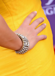 Danielle Peck added the dazzle with this diamond bracelet.