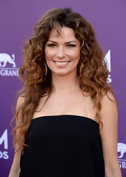 Shania Twain opted for big voluminous curls at the 2013 ACM Awards.