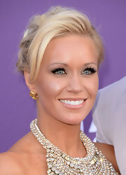 Caroline Boyer chose a slightly undone bobby pinned 'do for her elegant and sophisticated look at the 2013 ACMs.