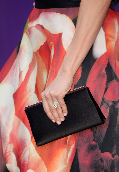 More Pics of Carrie Underwood Satin Clutch (1 of 25) - Carrie Underwood Lookbook - StyleBistro