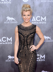 Kimberly Perry's black satin tube clutch and beaded dress at the ACM Awards were a very elegant pairing.