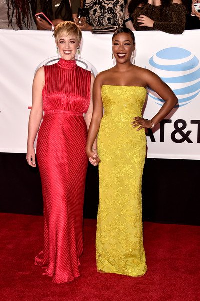 More Pics of Samira Wiley Strapless Dress (6 of 10) - Dresses & Skirts Lookbook - StyleBistro [red carpet,dress,red carpet,gown,carpet,clothing,shoulder,fashion model,fashion,haute couture,hairstyle,lauren morelli,samira wiley,pasadena civic auditorium,california,l,naacp image awards]