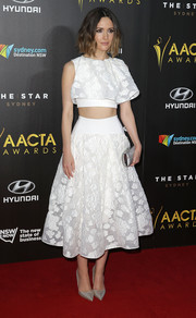 Rose Byrne coordinated her look with a matching white Maticevski skirt.
