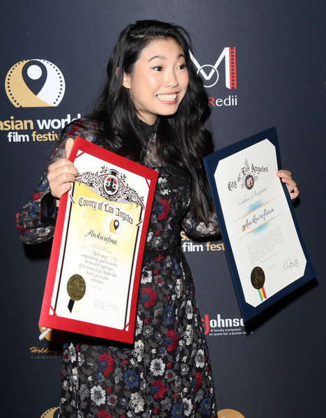 More Pics of Awkwafina Pumps (3 of 10) - Heels Lookbook - StyleBistro [in harms way,award ceremony,technology,award,electronic device,awkwafina,arclight culver city,california,4th annual asian world film festival - closing night screening]
