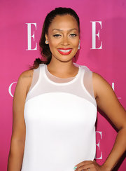 La La Anthony added a dose of feminine color to her look with some bright red lipstick when she attended the Elle Women in Music celebration.