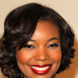 Gabrielle Union's Shimmering Apple Red Lipstick